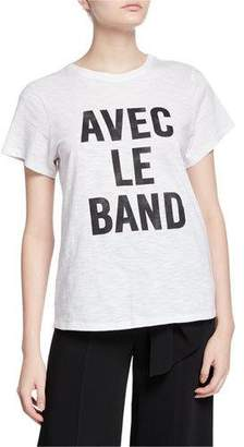 Cinq à Sept With The Band Short-Sleeve Slogan Tee