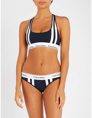 Calvin Klein Modern Cotton stretch-jersey sports bra