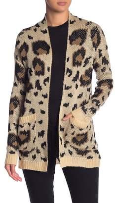 Woven Heart Leopard Knit Cardigan