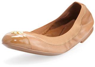 Tory Burch Jolie Logo Ballerina Flat $150 thestylecure.com