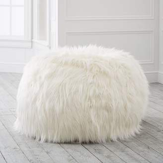 3a725a018a32 Pottery Barn Teen Himalayan Ivory Faux-Fur Beanbag