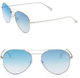 Tom Ford Ace 55MM Mirrored Aviator Sunglasses