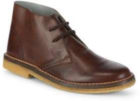 Canali Round Toe Leather Chukka Boots