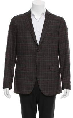 Etro Plaid Wool Blazer w/ Tags