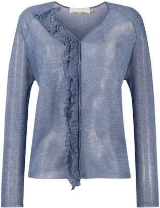 L'Autre Chose ruffle trim knitted top