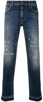 Dolce & Gabbana distressed slim jeans