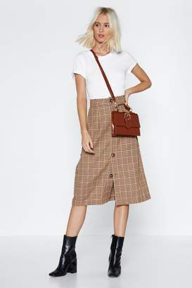 Nasty Gal Toot Your Own Whistle Check Skirt