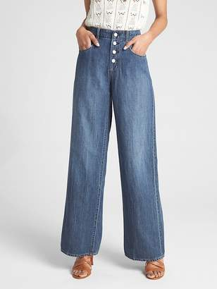Gap Wearlight High Rise Wide-Leg Jeans with Button-Fly