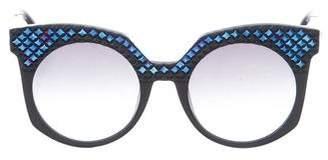 MCM Embellished Oversize Sunglasses