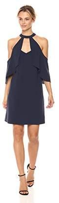 BCBGMAXAZRIA Azria Women's Duran Woven Cold Shoulder Halter Dress