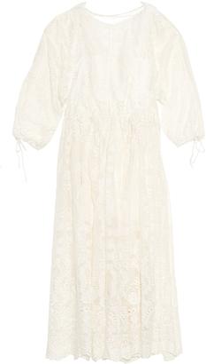 ZIMMERMANN Alchemy embroidered silk maxi dress $1,150 thestylecure.com