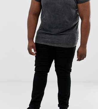Menswear Big & Tall tapered jeans in black