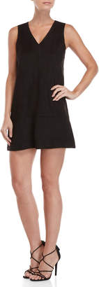 Bishop + Young Black Faux Suede Shift Dress