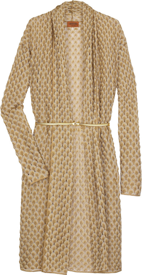 Missoni Lampone long knitted cardigan