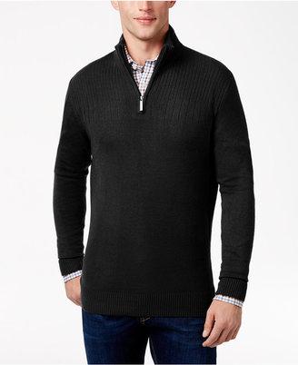 Geoffrey Beene Men's Big & Tall Quarter Zip Sweater $85 thestylecure.com