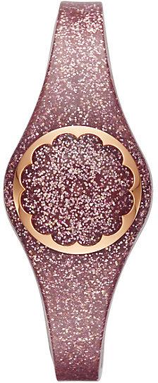 Rose gold glitter scallop activity tracker