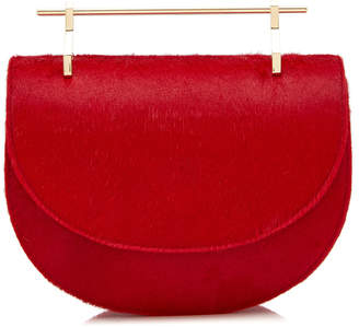 M2Malletier M'O Exclusive Mini Half Moon Pony Hair Shoulder Bag