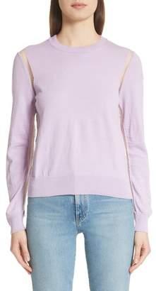 Comme des Garcons Sheer Panel Crewneck Sweater