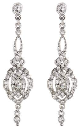 Ben-Amun Pave Crystal Deco Drop Earrings