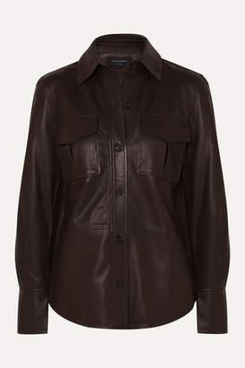 Equipment Garcella Leather Shirt - Brown