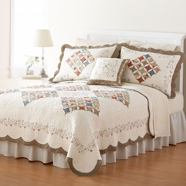 Home classics® donna floral heirloom quilt coordinates