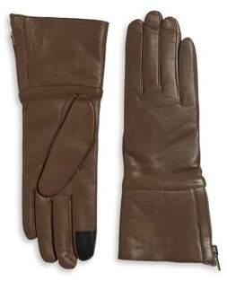 Carolina Amato Shearling-Lined Leather Gloves
