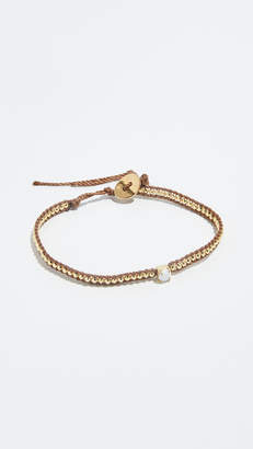 Chan Luu Amazonite and Rhinestone Single Wrap Bracelet