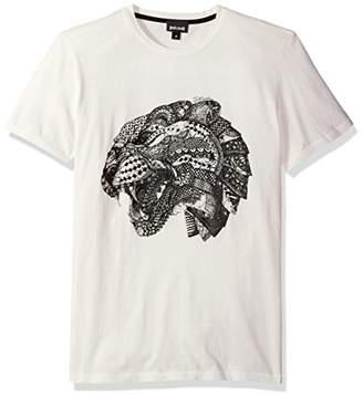 Just Cavalli Mens Lion Print Tee