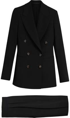 Burberry Crest Button Wool Silk Tailored Jacket