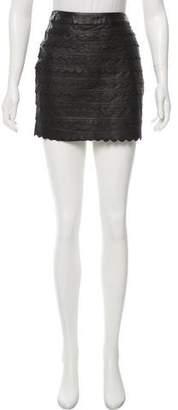 Leifsdottir Leather Mini Skirt