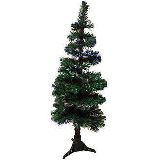 Asstd National Brand 5' Pre-Lit Fiber Optic Artificial Spiral Pine Christmas Tree - Multi Lights
