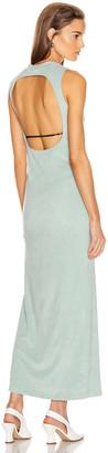 John Elliott Velvet Jersey Maxi Dress in Celadon | FWRD