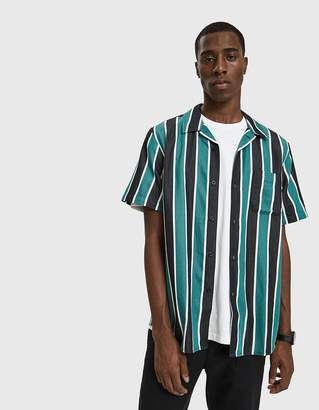 Obey Wicker Woven Button Up Shirt