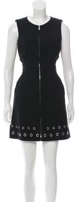 Barbara Bui Grommet-Embellished Mini Dress