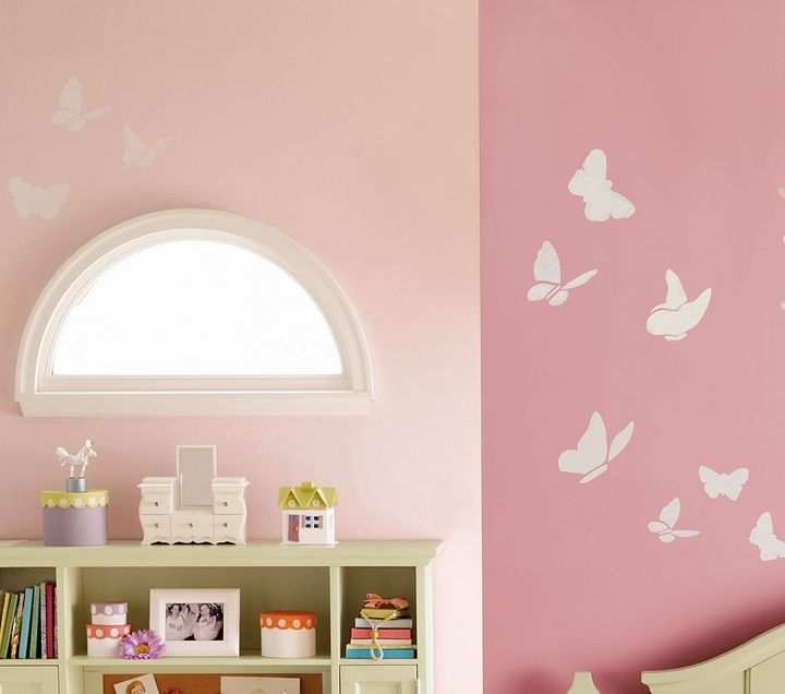 Pottery Barn Kids Butterfly Silhouette Decals