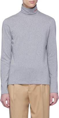 Calvin Klein Logo embroidered turtleneck long sleeve T-shirt