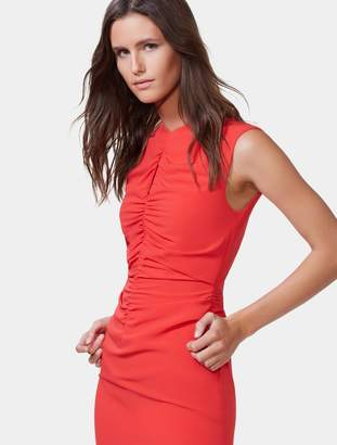 Halston Ruched Front Gown