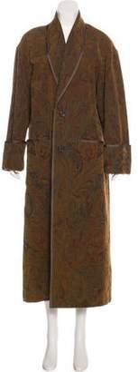 Ralph Lauren Purple Label Embroidered Long Coat