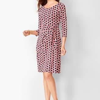 Talbots Side-Tie Swirl-Print Sheath Dress