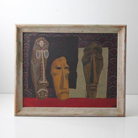 Modish Vintage Oil Painting Masks