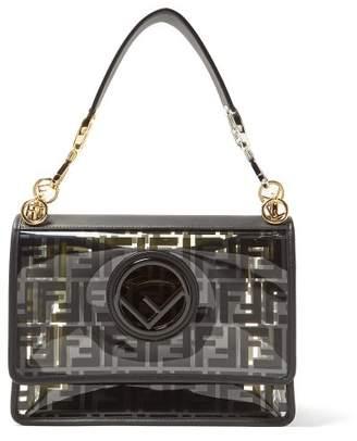 Fendi Kan I Logo Print Pvc Shoulder Bag - Womens - Black