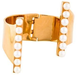 Vita Fede Pearl Lia Cuff Bracelet