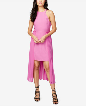 RACHEL Rachel Roy Pleated-Overlay High-Low Dress $169 thestylecure.com