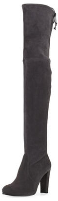 Stuart Weitzman Highland Suede Over-The-Knee Boot $798 thestylecure.com