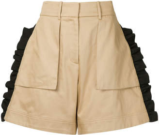 Public School Mousa ruffle shorts
