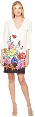 Karen Kane Floral Border Shift Dress Women's Dress