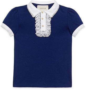 Children's cotton polo with lace $290 thestylecure.com