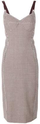Stella McCartney panelled check and houndstooth dress