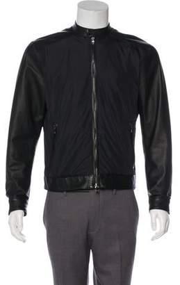 Michael Kors Suede-Trimmed Zip-Front Jacket