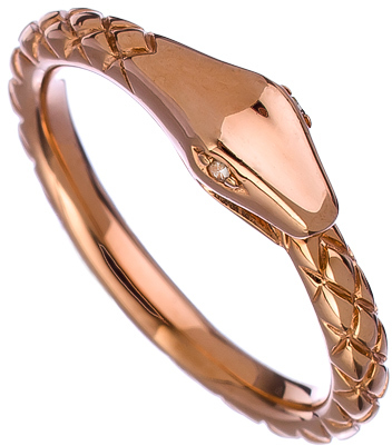 Mystic Light Rose Gold and Diamond Snake Ring